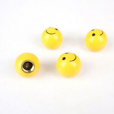 "4pcs ""SMILE FACE"" Ball Car Truck Bike Tire air Valve Stem Caps Wheel Rims  T29"