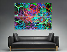 Trippy Psychedelic Abstract 02 Wall Art  Poster Grand format A0