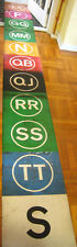 Vintage New York Subway R-16 Front Route Color Roll Sign IND