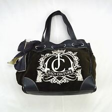 JUICY COUTURE Embroidered Brown Shoulder Bag Purse Satchel Drawstring Sack Large