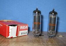 Radio Tubes 6HG5 6AQ5A 6AQ5 RCA Black Plate PL NOS PAIR