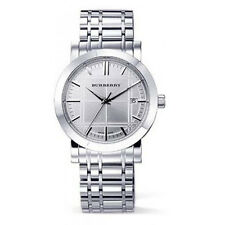 Brand New Heritage Burberry White Dial Stainless Steel Ladies Watch BU1351