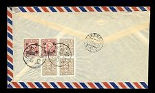 LETTER SENT BY AIR MAIL FROM CHINA TO LIBEREC. NICE OLD STAMPS AND ENVELOPE.