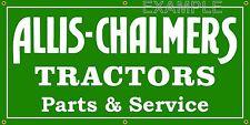 ALLIS CHALMERS TRACTOR DEALER OLD SCHOOL SIGN REMAKE BANNER SHOP ART 2 X 4