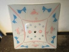 Vintage Kids Atomic Starburst Ceiling Light Fixture Glass Shade Retro MCM