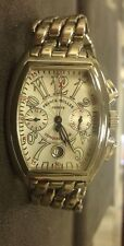 Authentic Franck Muller Conquistador 8001 CC Stainless Steel Mens Watch