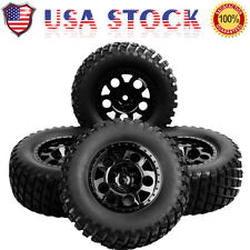 4 PCS 1:10 RC Car Truck Tires Tyre  Wheel Rim For TRAXXAS SlASH HPI 12mm Hex