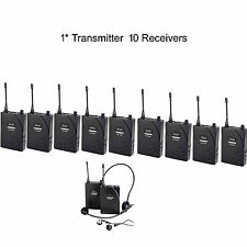 UHF Wireless Tour Guide / Translation System 1 Transmitter 10 Receivers