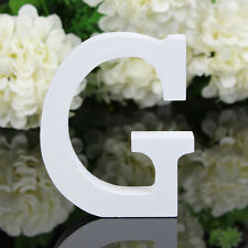 Letter G Wooden Alphabet Home Name Freestanding Wedding Party DIY Decoration 8cm
