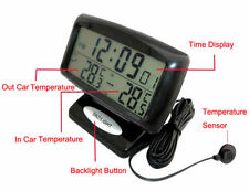 2 in1 Car Auto Alarm Clock In / Out Temperature LCD Thermometer Clock