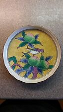 VINTAGE CHINESE ASIAN BOWL DISH HAND PAINTED W/BIRD & FRUIT DESIGN