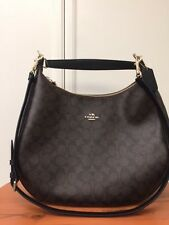 $425 NWT Coach Harley Signature Hobo Crossbody Handbag Bag Brown Black F38300