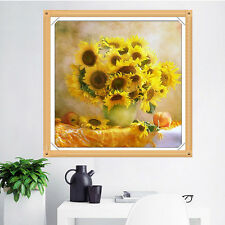 DIY 5D diamant broderie peinture Cross Stitch Mosaic Sunflower Home Decor mur