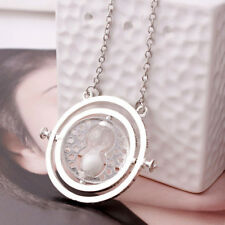 Hermione Granger Harry Potter Rotating Spins Hourglass Necklace Gold Time Turner