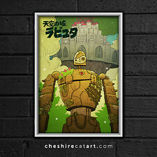 "Studio Ghibli Laputa: Castle in the Sky Print 13""x19"" Signed"