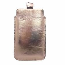 Hülle ECHTLEDER Gold Tasche aus Leder Schutzhülle für Samsung Galaxy Note 3 HTC