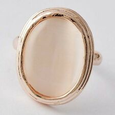 Luxury Womens Gold Filled Oval Opal Ring,Adjustable SZ 6#D5174