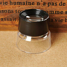 10X Eye Magnifier Loupe Lens Jeweler Coin Stamp Monocular Magnifying Glass New