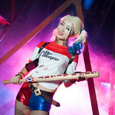 """Christmas Full Size 34"""" Harley Quinn Suicide Squad Wooden Baseball bat Cosplay"""