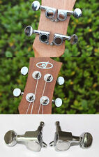 Set of Silver Universal Sealed Ukulele Tuning Pegs Tuners Machine Heads 2L + 2R