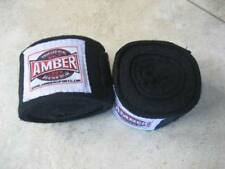 "Amber ~ HAND WRAPS Black 180"" Boxing MMA Kickboxing  (1 Pair)"