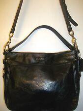 COACH Zoe F15478 Black Patent Leather Handbag Hobo Shoulder Bag -$398