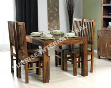 Sheesham Wood Dining Table with 4 wooden Chair set (5 pc Set) !!