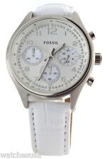 Women's White Fossil Flight Chronograph Watch CH2823