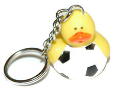 CUTE RUBBER SOCCER BALL DUCK KEY CHAIN (KC043)
