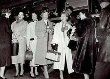 """1954 Vintage Photo """"Miss World"""" Beauty May-Louise Flodin & French Fashion Models"""