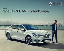 2017 MY Renault Megane Grand Coupe 11 / 2016 catalogue brochure Megane Sedan