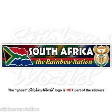 SOUTH AFRICA Flag-Coat of Arms The Rainbow Nation S.AFRICAN Bumper Sticker Decal