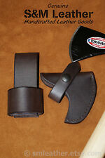 Cold Steel Pipe Hawk Tomahawk Brown Leather Sheath Cover and Belt Carry Loop