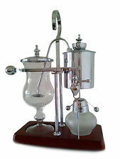 Nispira Belgium Royal Luxury Syphon balance coffee maker Silver New