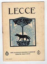 brochure depliant turistico - LECCE FERROVIE DELLO STATO
