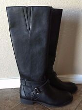 NEW Women's KENNETH COLE REACTION Black Gwen Tall Zip Up Riding Boots Size 8 US