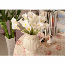 144pcs Calla Lily Artificial Flowers Wedding Party Home Garden Decor White