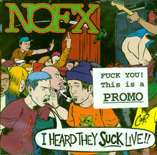 NOFX - I Heard They Suck Live! NEW SEALED PUNK ROCK PROMO CD FAT WRECK CHORDS