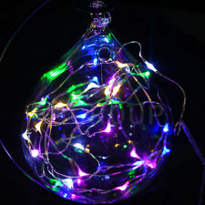 Multi Color 5M 50 LED Battery Powered Copper Wire String Fairy Lights Xmas Decor