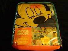 NEW 3 piece Minnie Mouse FLANNEL Twin Sheet set with Backpack