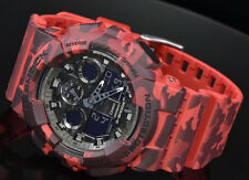 Imported Casio G-Shock, GA100CM, Red Camouflage Rubber Sports Watch For Men