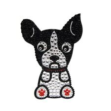 Boston Terrier Dog Rhinestone Glitter Jewel Phone Ipod Iphone Sticker Decal