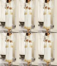 dress formal gown bride beaded 3 pc skirt jacket MOB $180 ivory gold large NWT