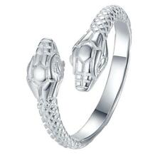 Wholesale 925 Sterling silver animal Double snake Ring Costume jewelry Gift