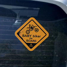 Baby motociclisti on board adesivo per l'interno auto finestrino vinilica decal