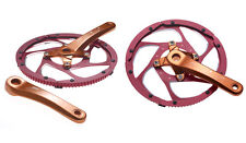 STRiDA genuine alloy chain wheel and crankset (anodised red)