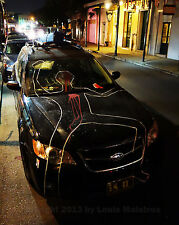 Car Crime Scene Prank Street Art NEW ORLEANS 8x10 Photo SIGNED by Louis Maistros