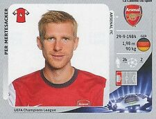 N°089 MERTESACKER # DEUTSCHLAND ARSENAL.FC CHAMPIONS LEAGUE 2013 STICKER PANINI