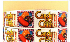 Candy Crush ribbon for cake decorating, hair tie or scrapbooking