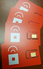Prepaid Red Pocket Mobile MICRO SIM Card for iPhone 4/4S. Works with ATT Phones